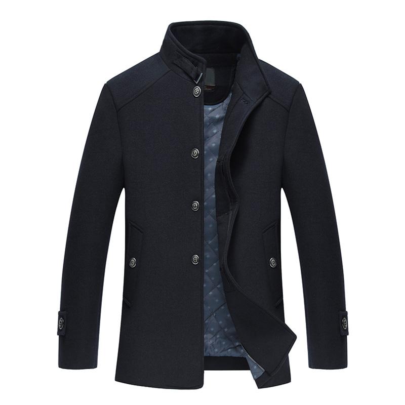 Áo khoác dạ lông cừu nam dáng Jacket Sunsus