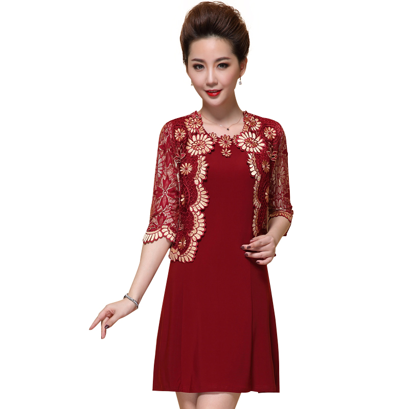 Bộ váy áo QIZ viền ren hoa đồng tiền