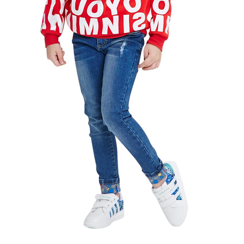 Quần jeans bé gái xắn gấu MYL
