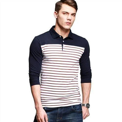 Áo Henley-shirt phối họa tiết kẻ ngang K-Jeans