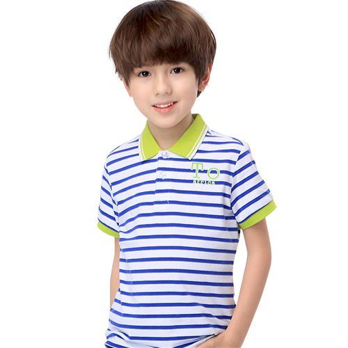 Áo thun bé trai kiểu dáng Polo Lobell