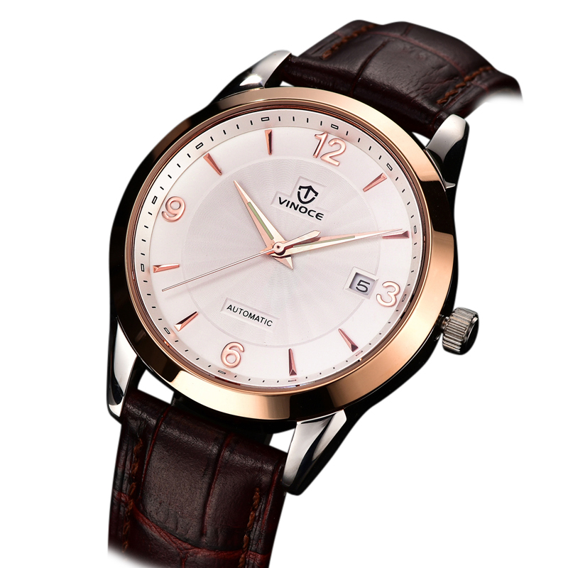 Đồng hồ nam Vinoce mặt tròn to bản