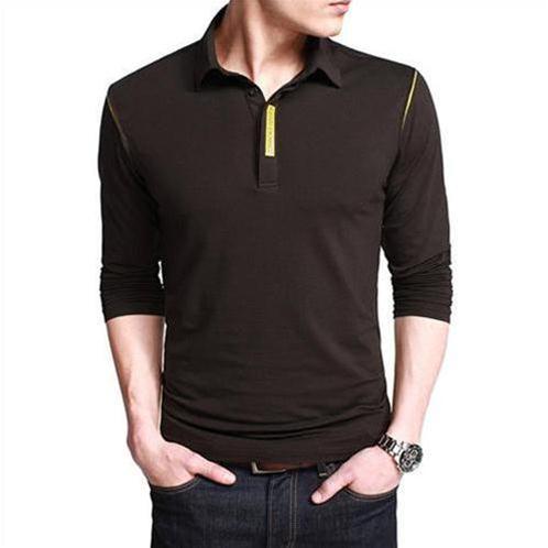 Áo Henley-shirt nam gam màu đơn sắc K-Jeans