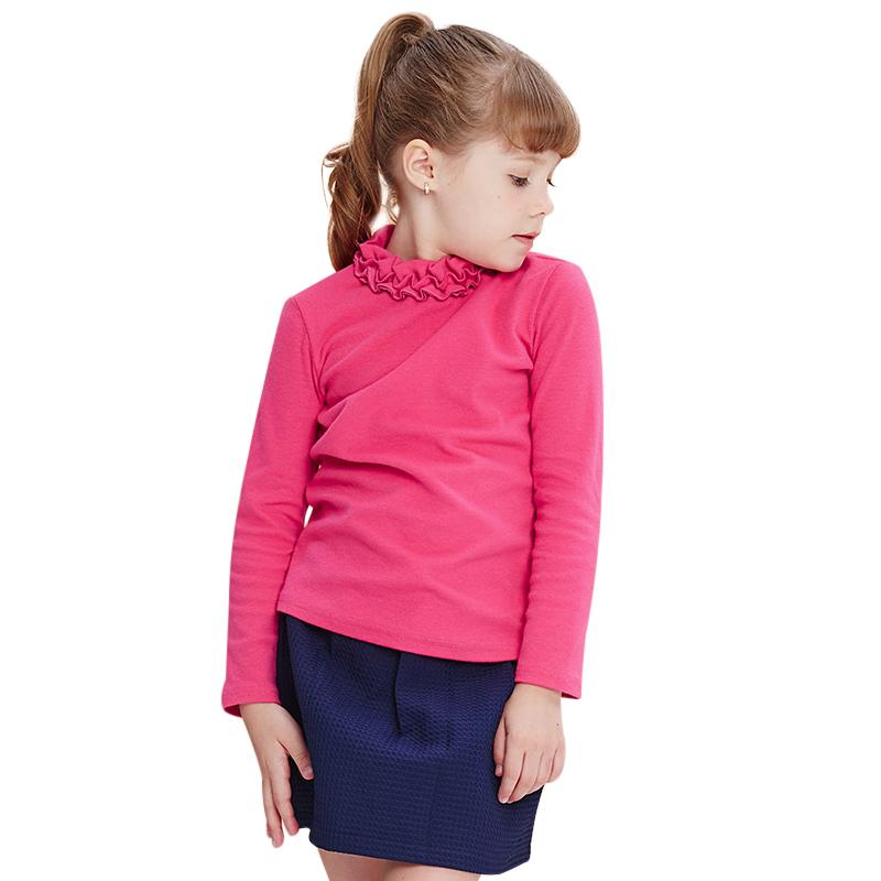 Áo thun bé gái dài tay cổ nhún bèo MYL