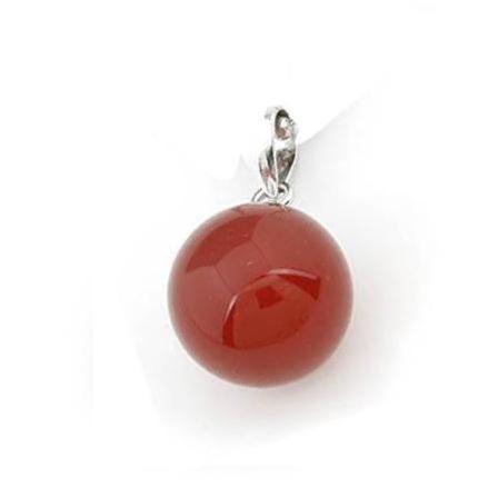 Mặt dây chuyền Quả Cầu Opal - Đỏ