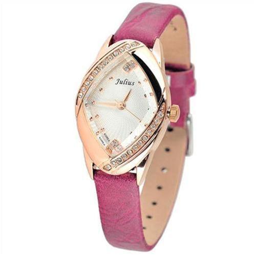 Đồng hồ nữ Julius JA660 mặt thoi đính đá