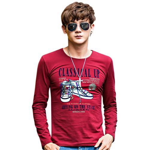 T-shirt nam dài tay họa tiết thể thao No1Dara