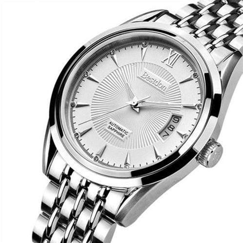 Đồng hồ nam mặt tròn cổ điển Bestdon