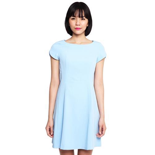 Đầm liền nữ 6DS15S014 - Vải Poly Visco mềm, thấm hút mồ hôi