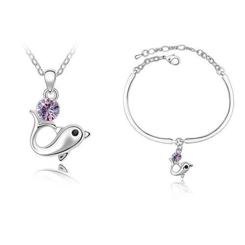Bộ trang sức vòng cổ và lắc tay cá Heo - tôn vẻ đẹp hồn nhiên cho bạn gái