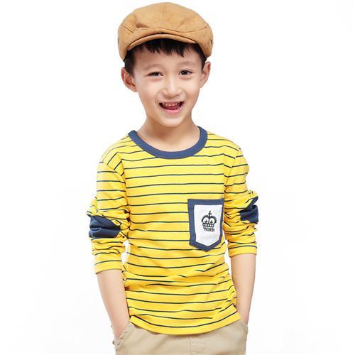 Áo thun cho bé trai Tiger Mini họa tiết sọc kẻ ngang