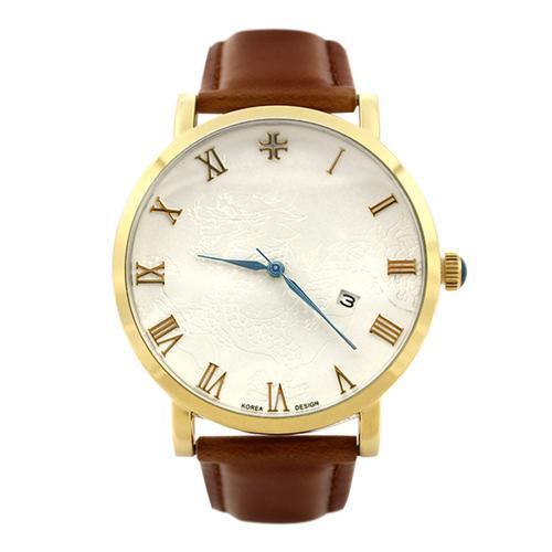 Đồng hồ nam dây da số la mã Julius _korea JA-585M