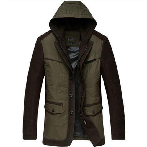 Jacket nam thu đông liền mũ trùm NLeidun