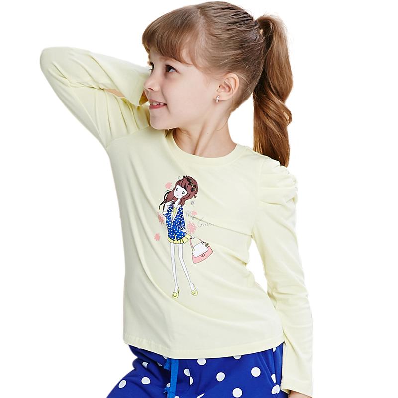 Áo thun dài tay bé gái MYL in hình cô gái