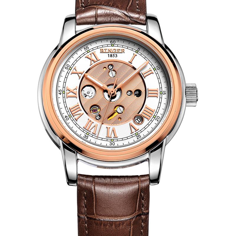 Đồng hồ Binger nam chạm rỗng số La Mã
