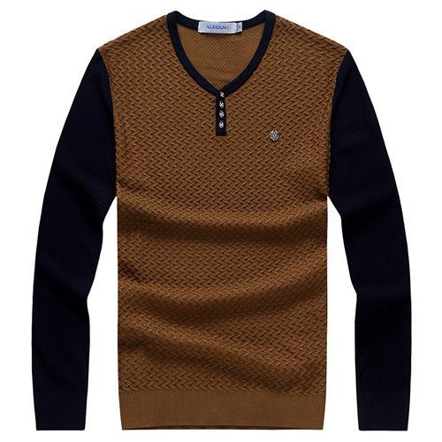 Áo len nam dài tay Nleidun họa tiết zigzag