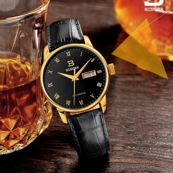 Đồng hồ đeo tay nam dây da Binger