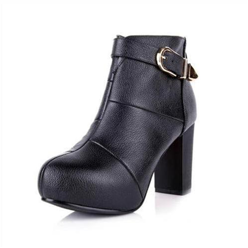 Ankle boots nữ YiYa yy5755 xinh xắn ngày đông