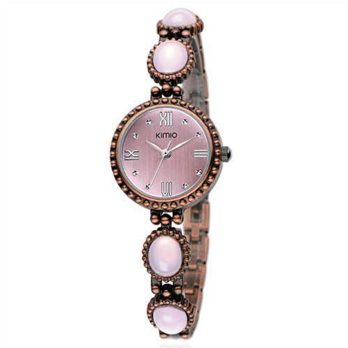 Đồng hồ nữ Kimio dây đeo gắn đá Cổ Điển