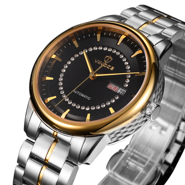 Đồng hồ nam dây kim loại VINOCE