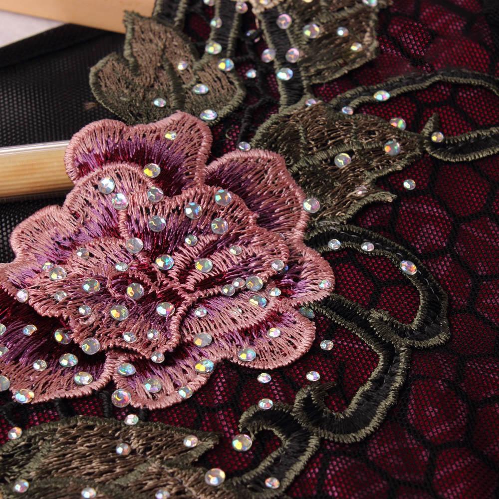Đầm liền phối lưới ren hoa QIZ