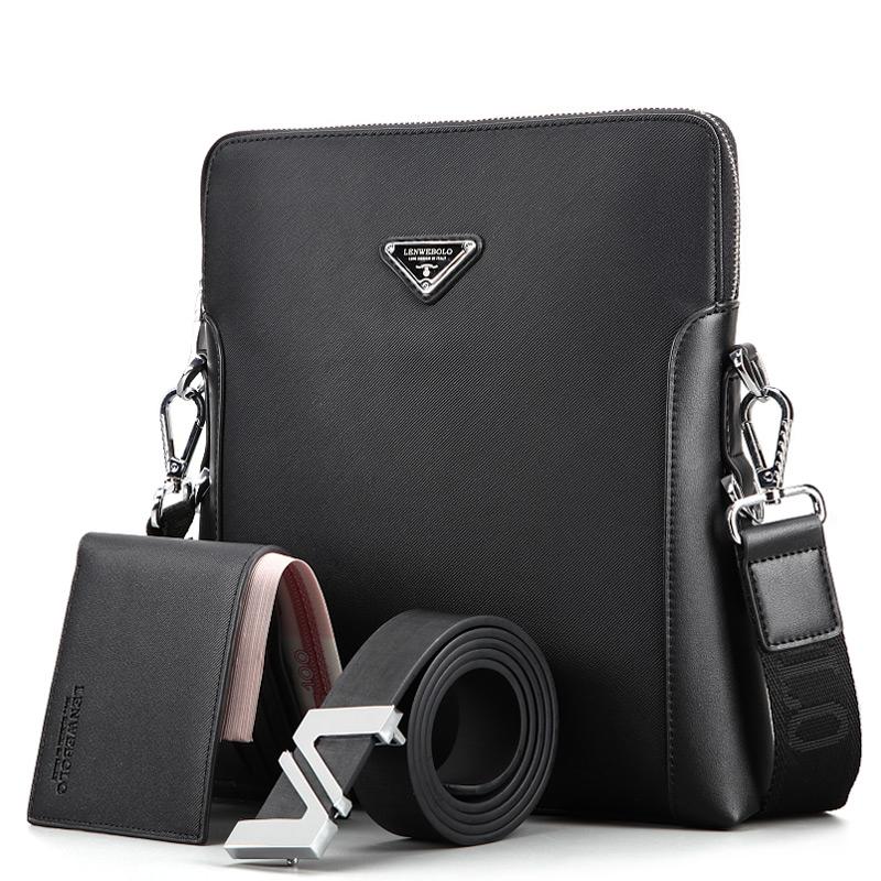 Bộ túi ví dây lưng LENWEBOLO phong cách doanh nhân