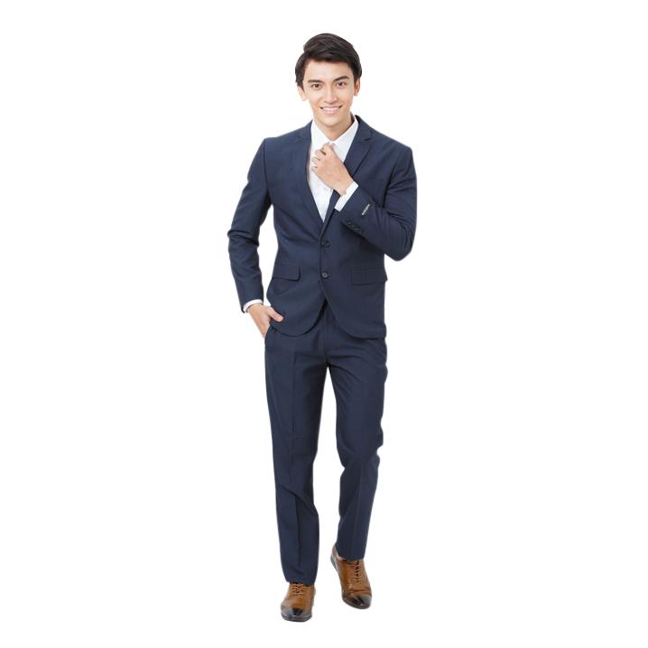 Bộ vest nam slim fit xanh dương đậm Mattana