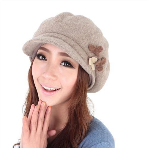 Mũ beret đính hoa Dorain