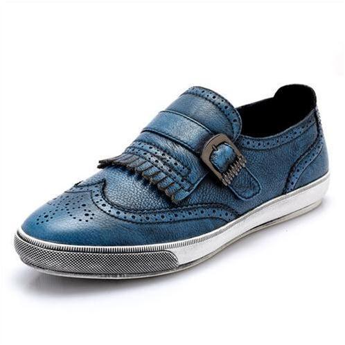 Giày da nam CDD 3835 viền tua rua điệu đà