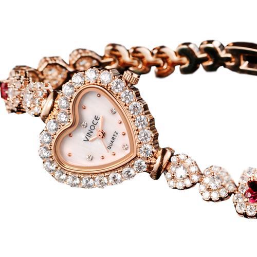 Đồng hồ nữ mặt trái tim Vinoce V633248G