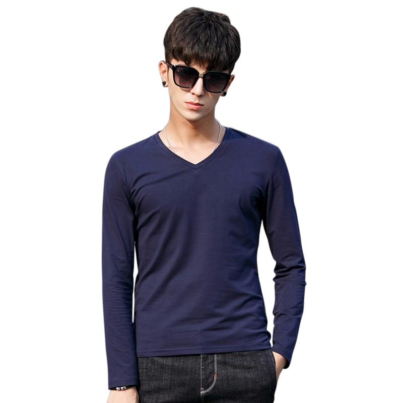 Áo T-shirt nam No1Dara dài tay cổ chữ V