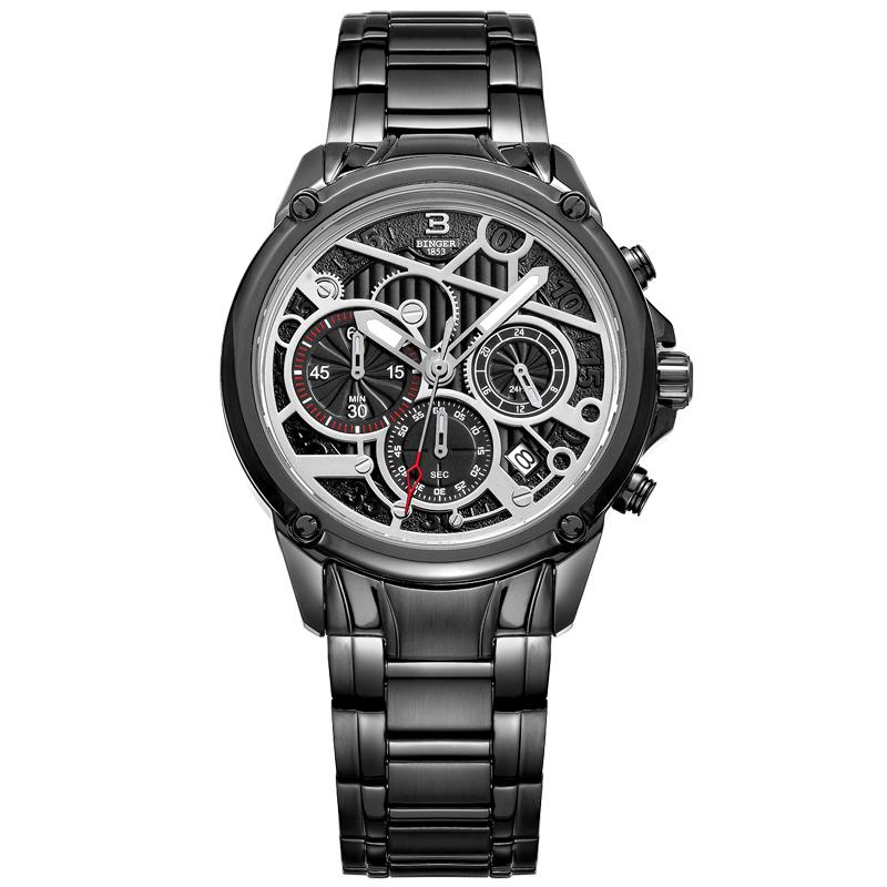 Đồng hồ doanh nhân nam Chronograph Binger CX1