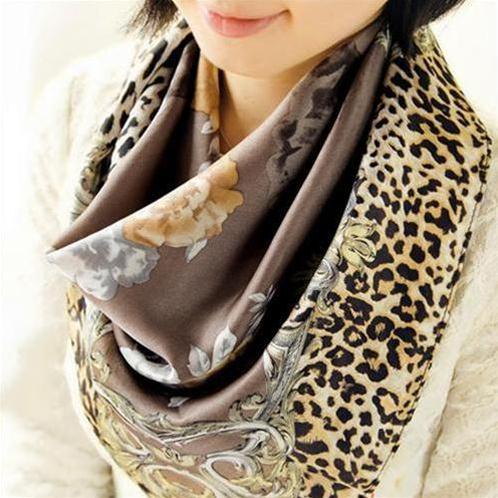 Khăn choàng thời trang nữ thanh lịch 100% lụa tơ tằm