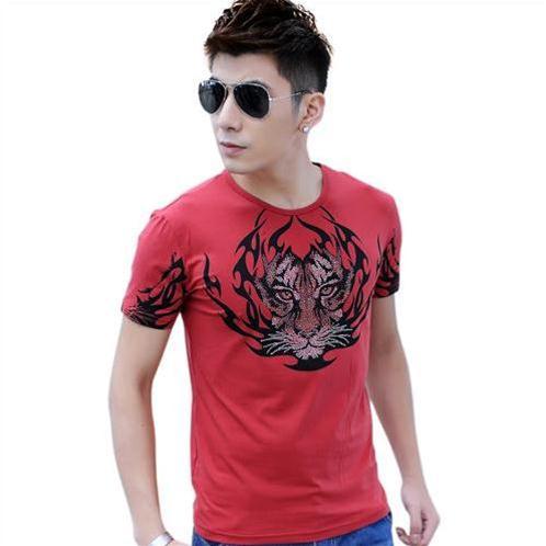 Áo T-Shirt nam Sinhillze 854 họa tiết tatto Hổ