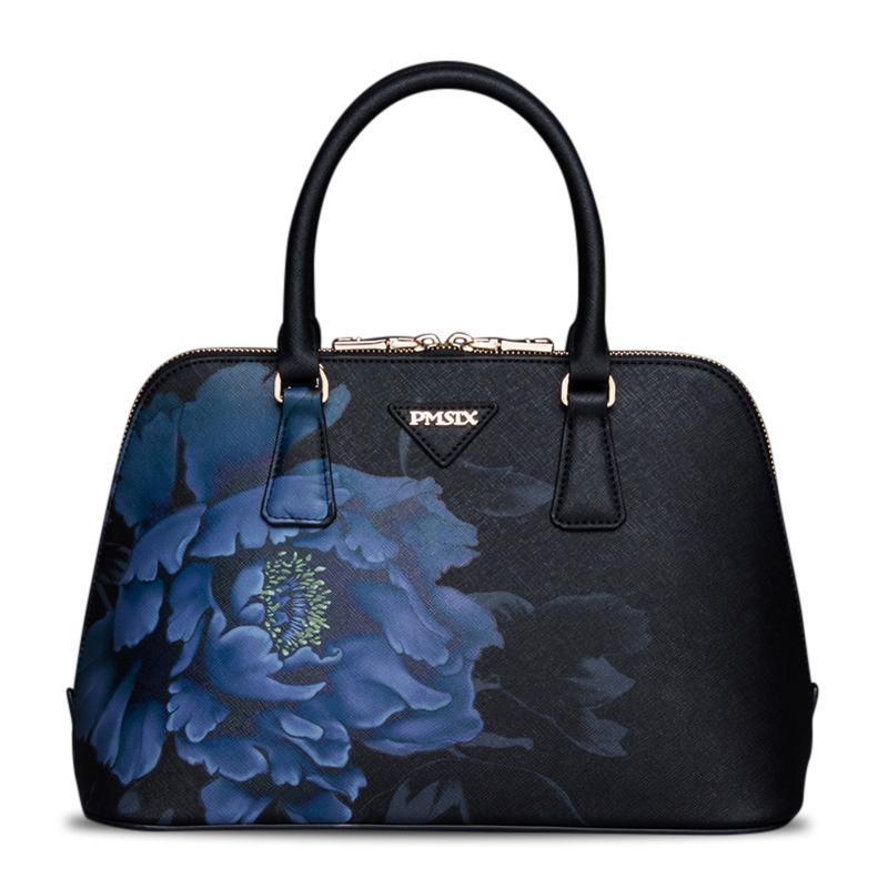 Túi vỏ sò in hoa PMSIX phong cách cổ điển