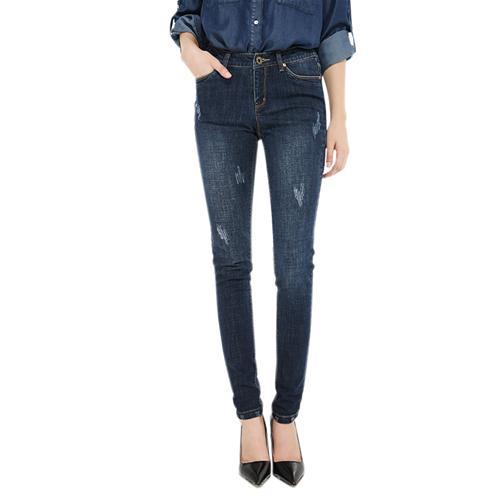 Quần Skinny Jeans mài xước Shankry