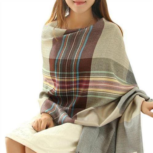 Khăn choàng nữ phong cách Hàn Quốc Lyza