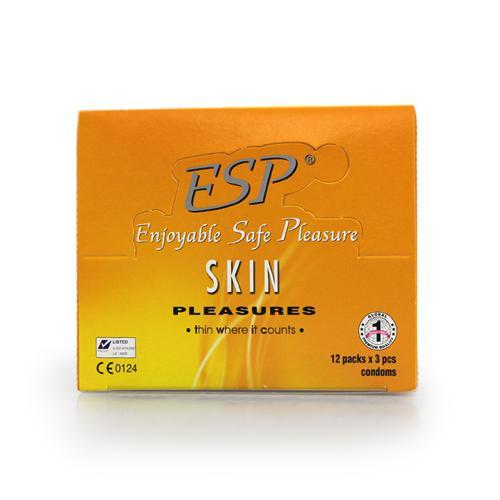 Combo 3 hộp Bao cao su siêu mỏng ESP Skin Pleasures