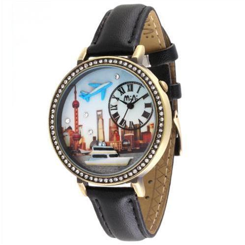 Đồng hồ thời trang nữ Mini MN1075 mặt đính đá cao cấp