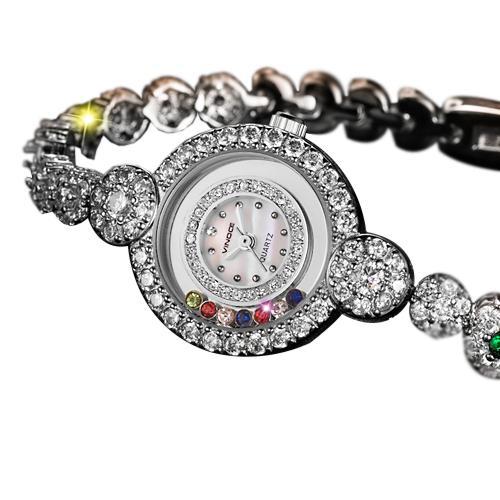 Đồng hồ trang sức đính pha lê nữ Vinoce 633230L