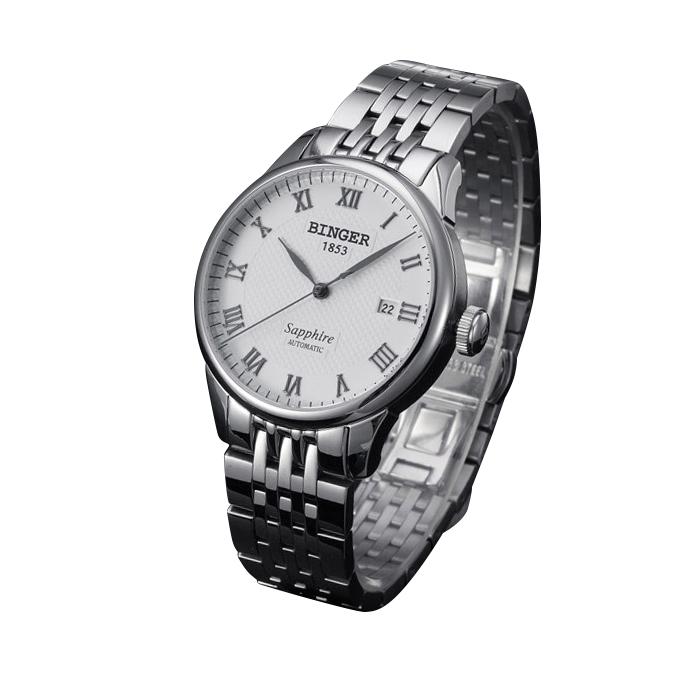 Đồng hồ doanh nhân nam máy cơ automatic Binger