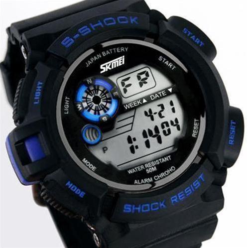 Đồng hồ điện tử nam Skmei 0939 đèn Led ngũ sắc