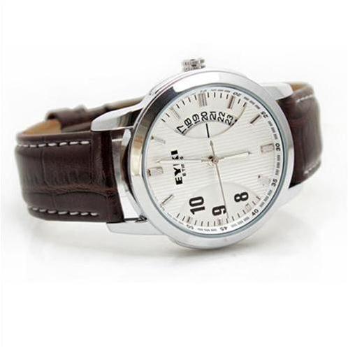 Đồng hồ nam EYKI 8408AG (Trắng dây da nâu (N1))-EY0001-1
