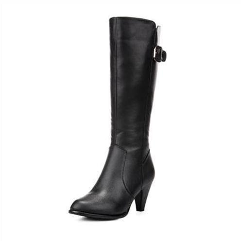 Giày bốt nữ ống cao thời trang YiYa YY16377