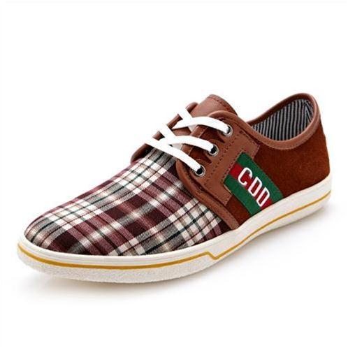 Giày nam CDD 1668 mặt vải caro