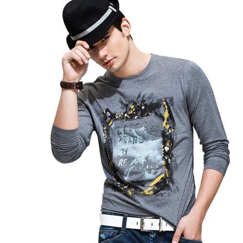 Áo thun nam dài tay lịch lãm K-Jeans KT-8812