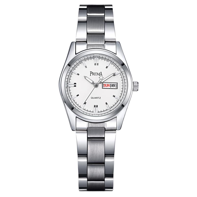 Đồng hồ nữ Prema mặt tròn style Hàn Quốc
