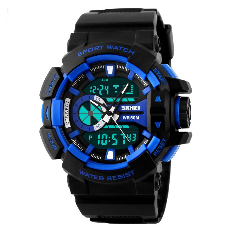Đồng hồ điện tử nam mặt tròn Skmei 1117