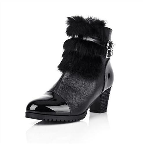 Giày bốt nữ cao gót thời trang YiYa YY83801