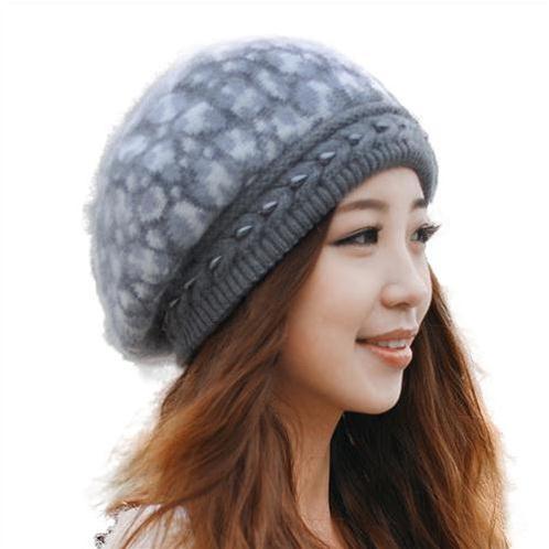 Mũ len nữ họa tiết Dorain B023 - Mũ nồi beret đẹp